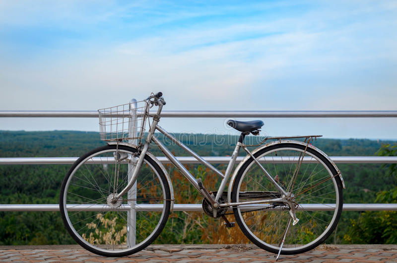 Retro style bicycle stock photography