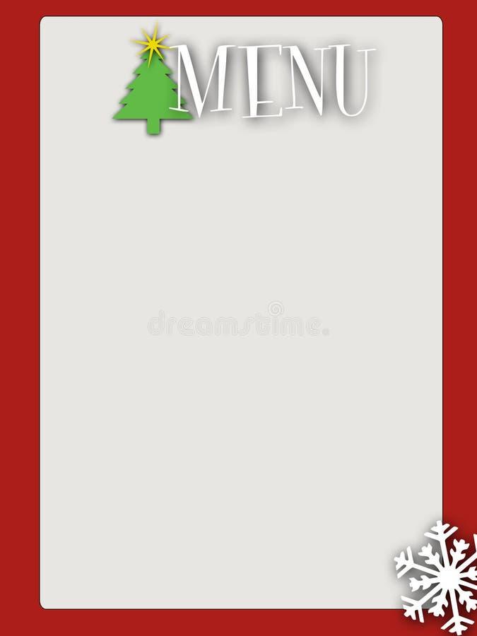 Download Retro Style Blank Christmas Menu Stock Illustration - Illustration of decorative, december: 10946045