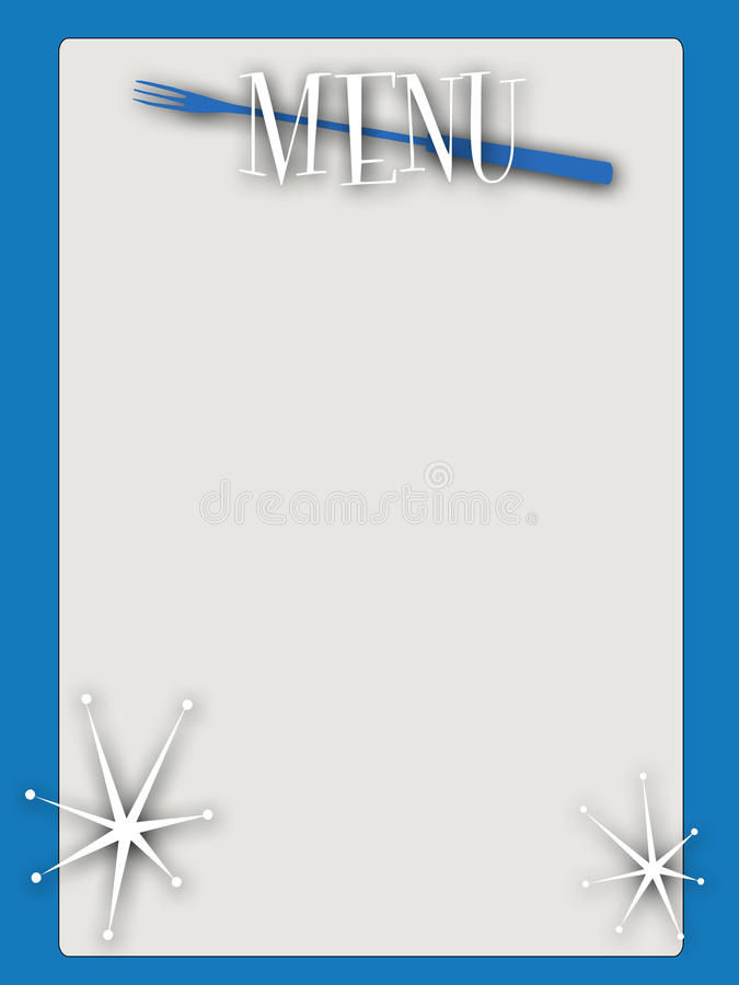 Download Retro style blank menu stock illustration. Image of page - 10945057