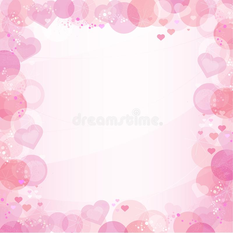 Retro Bokeh Hearts Frame/Background with copy space vector illustration