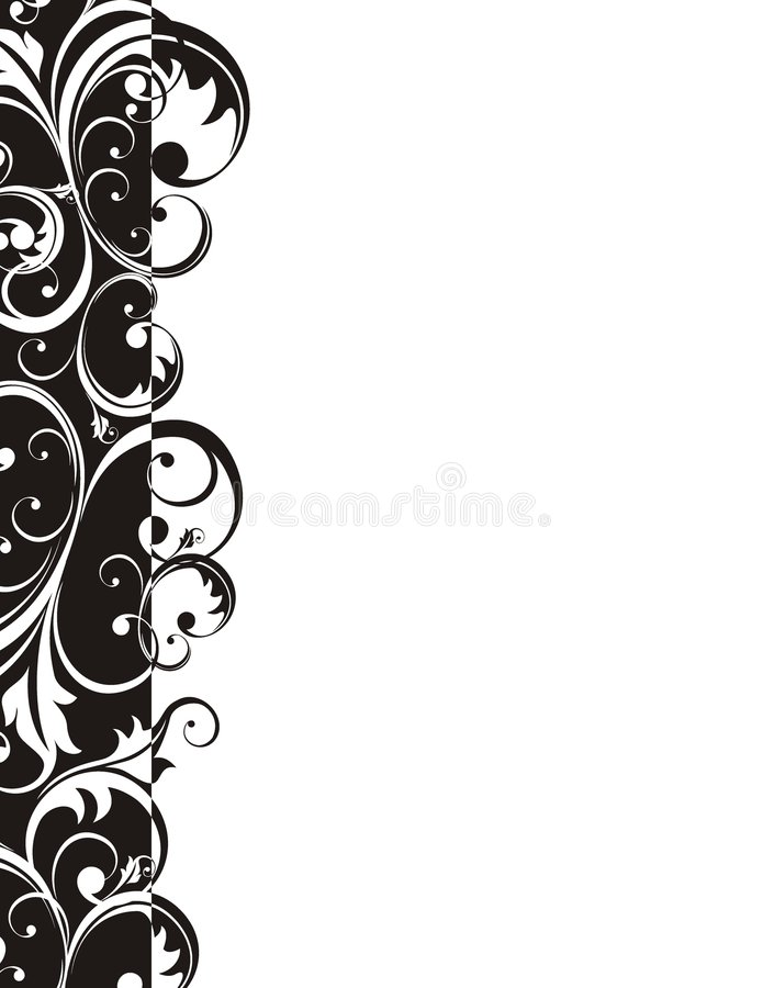 Retro style border page. Design elements in vector format very easy to edit stock illustration