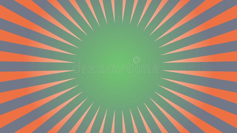 Burst abstract background in retro style royalty free illustration