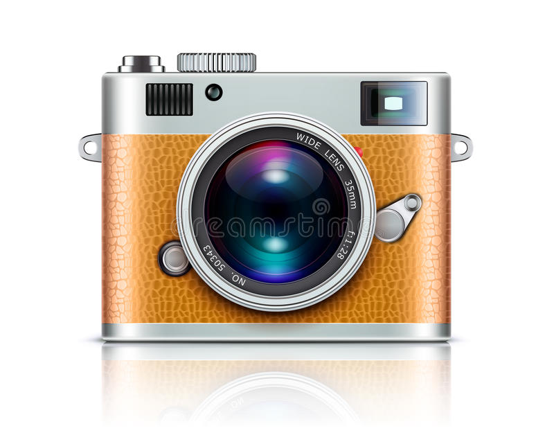 Download Retro style camera stock vector. Illustration of brown - 24677824