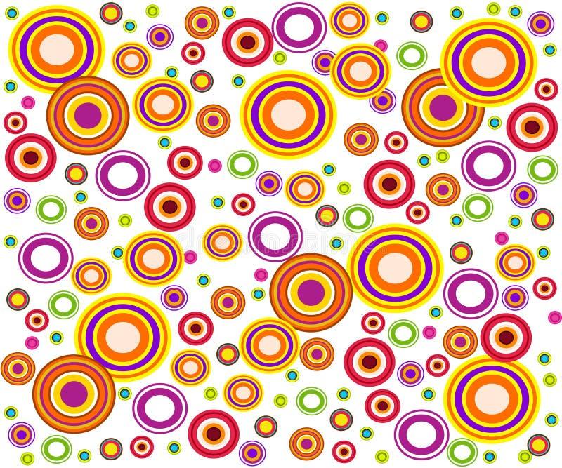 Retro style circles royalty free illustration