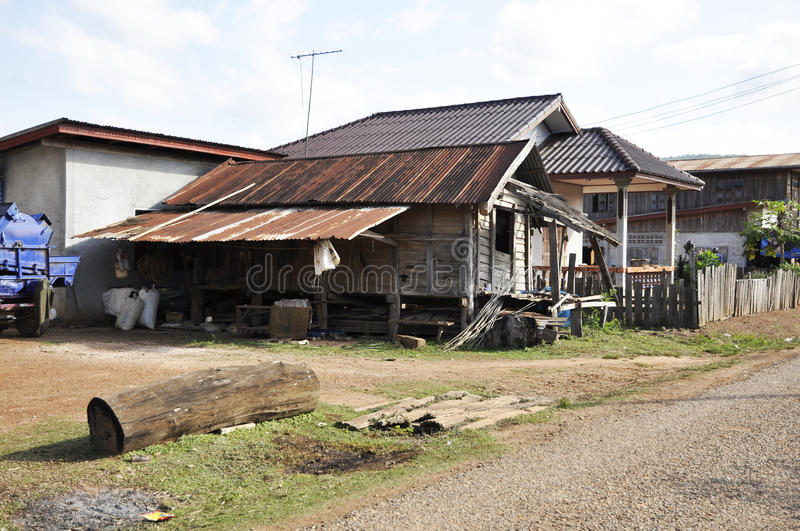 Retro Style Country Vintage Old House Thailand royalty free stock image