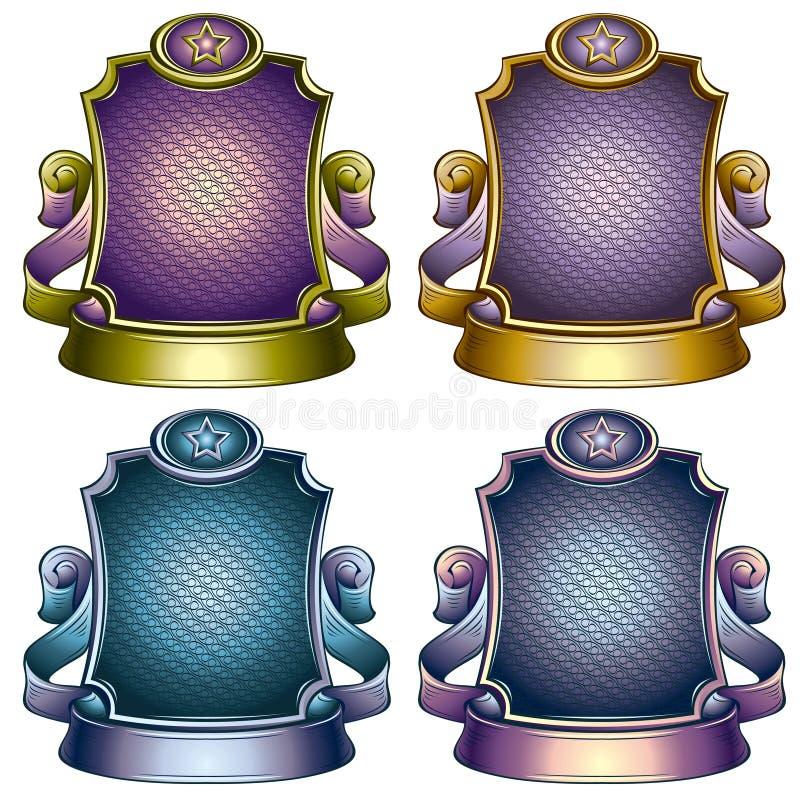 Retro Style Emblem. Color Versions Set. Stock Images