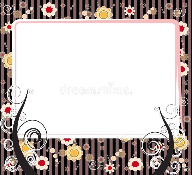 Retro style frame stock photo
