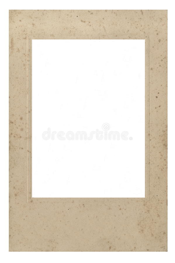 Retro Style. Frame For Photo Or Text From Cardboard Mat With Bevel ...