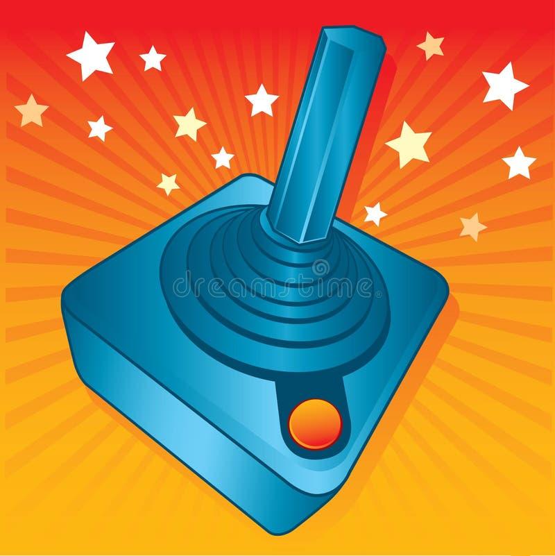 Retro style games joystick vector illustration. Fully editable royalty free illustration