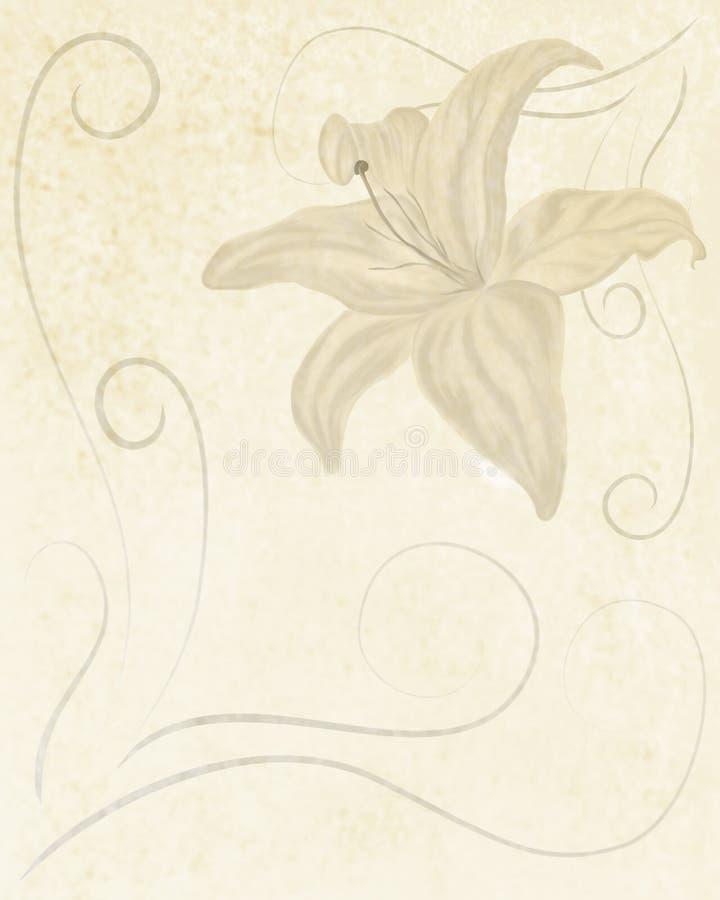 Retro style lily background stock image