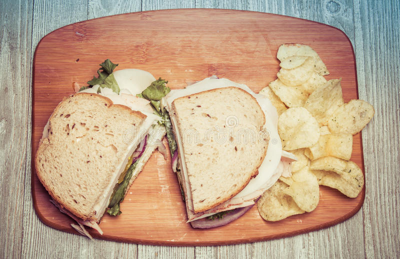 Retro Style Lunch stock images