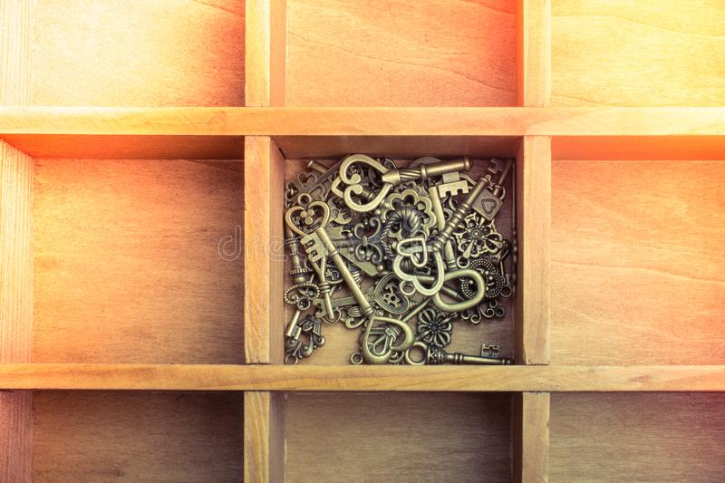 Retro style metal keys as business concept royalty free stock photography