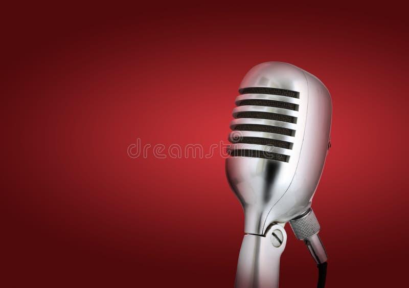 Retro style microphone stock photos
