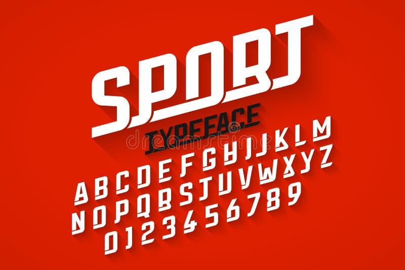 Sport style font vector illustration