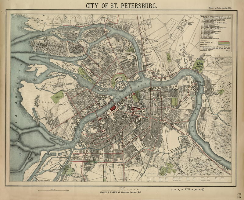 Retro style old map city of sankt petersburg russia old europe old map city of sankt petersburg russia old europe gumiabroncs Gallery