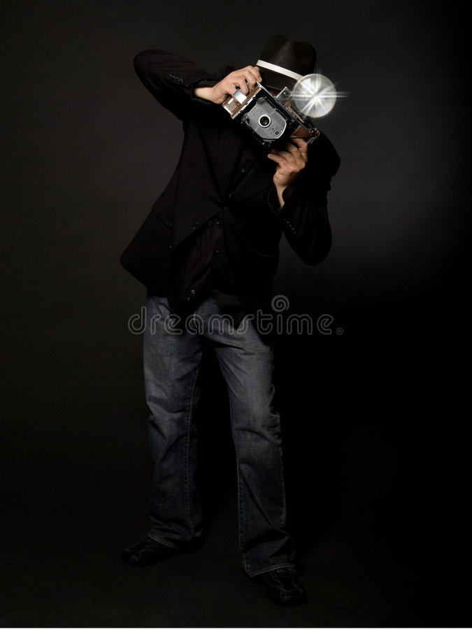 Retro Style Photographer stock image