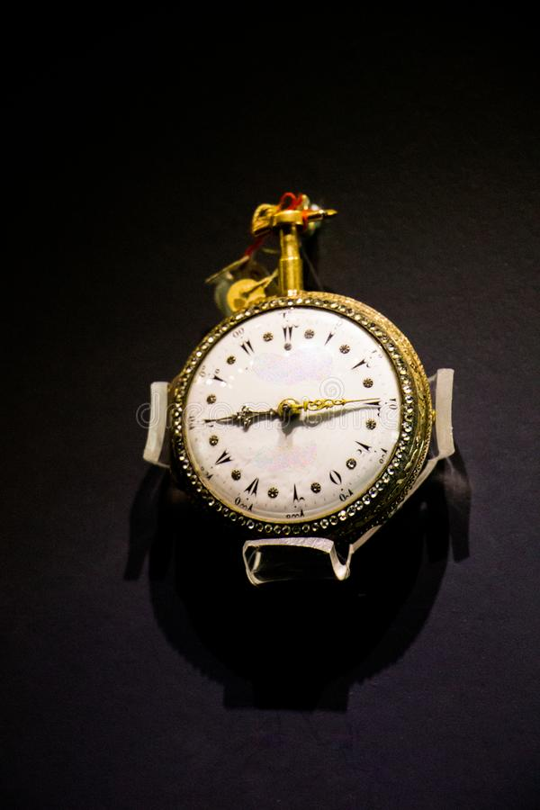 Retro style pocket watch in view royalty free stock images