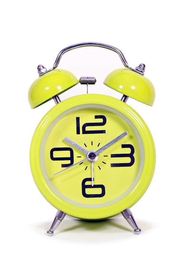 Retro style round green clock