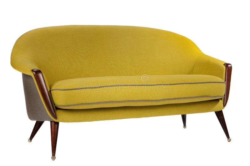 retro style sofa sixties style antique mustard yellow. Black Bedroom Furniture Sets. Home Design Ideas