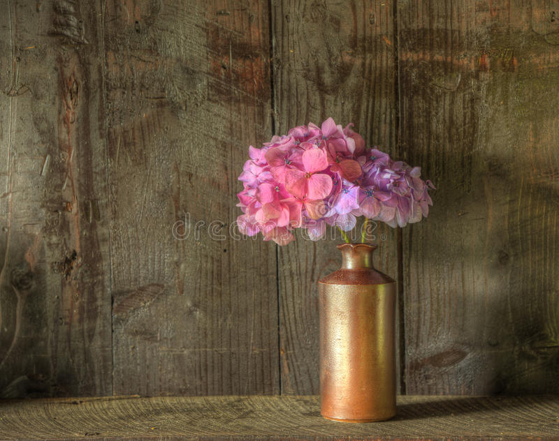 Download Retro Style Still Life Of Dried Flowers In Vase Royalty Free Stock Images - Image: 21277599