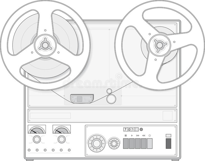 Retro style tape recorder royalty free stock images
