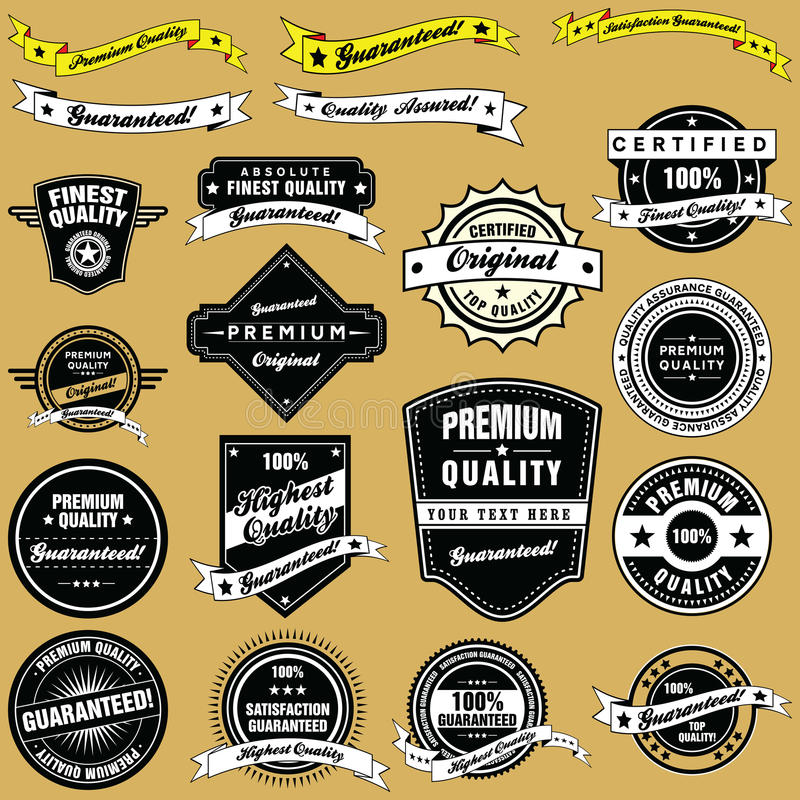 Download Retro Style Vintage Labels And Emblems Collection Stock Vector - Image: 28103539