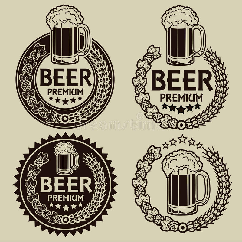 Retro Styled Beer Seals / Labels royalty free illustration