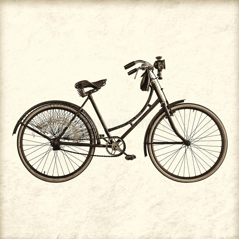 Free Retro Styled Image Of A Vintage Lady Bicycle Royalty Free Stock Photography - 31587077