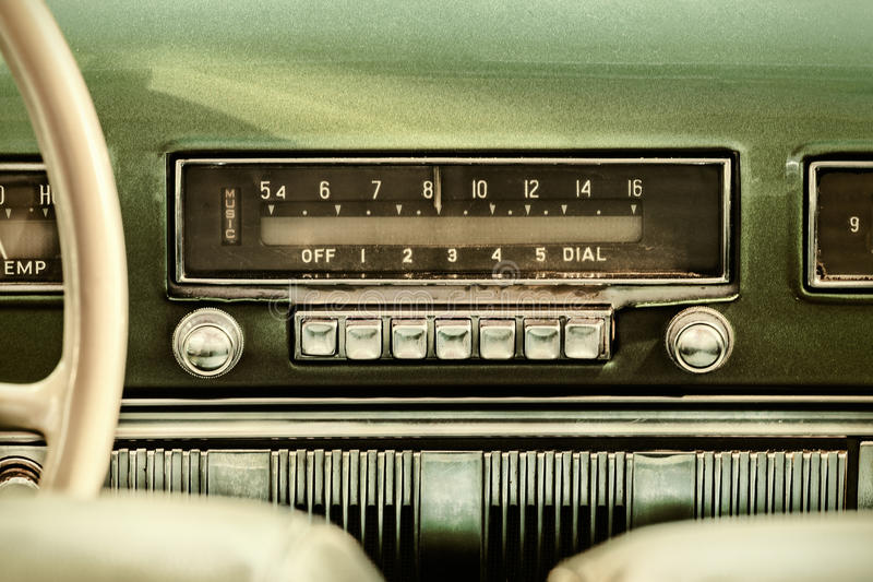 retro styled image of an old car radio stock image image. Black Bedroom Furniture Sets. Home Design Ideas