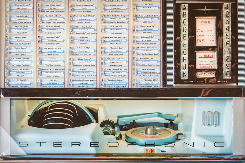 Retro styled image of an old jukebox stock images