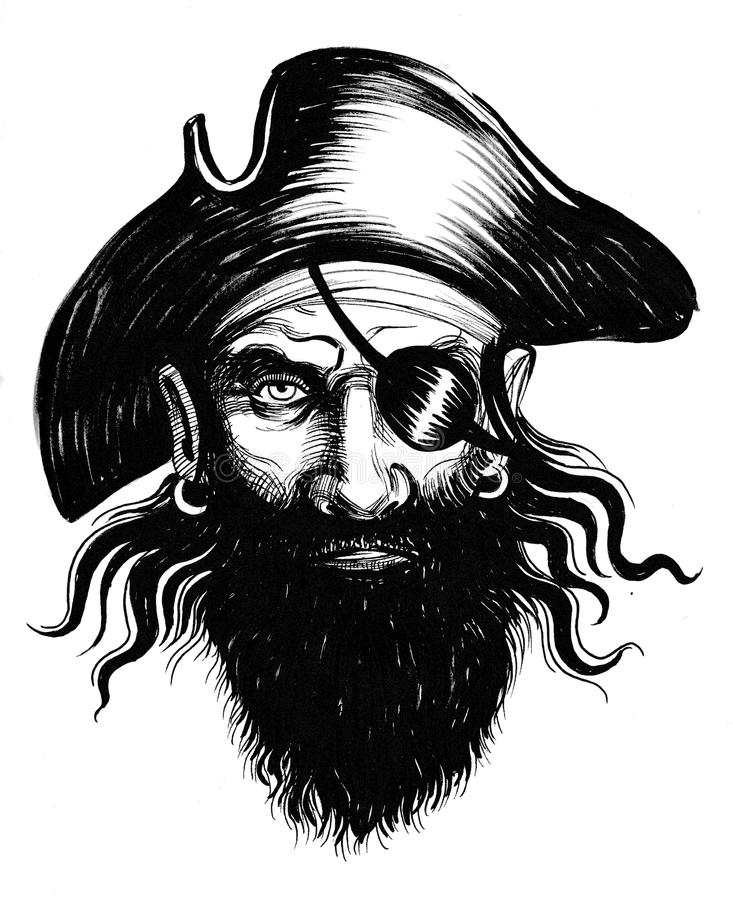 Pirate head royalty free illustration