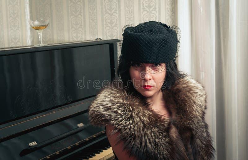 Stylish woman closeup portrait royalty free stock images