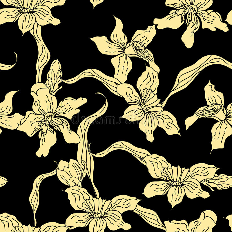 Download Retro Stylized Seamless Wallpaper Stock Vector - Image: 13929515