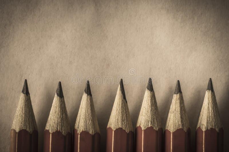 Retro Stylowa Czerwona ołówek granica obrazy royalty free