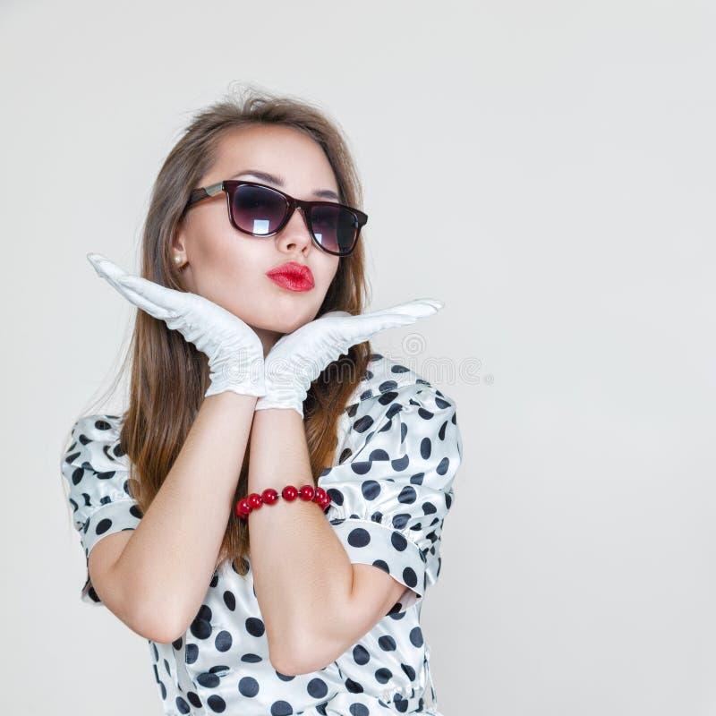 Retro stylowa mody kobieta obrazy stock