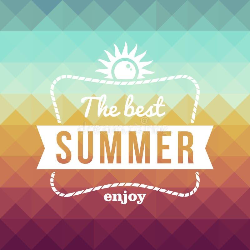 Couple Enjoying Their Summer Holidays Stock Photo: Retro Summertime Holidays Poster Stock Vector