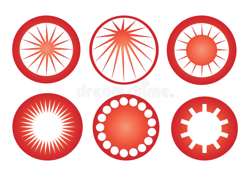 Download Retro sun icons vector stock vector. Image of elements - 6491656