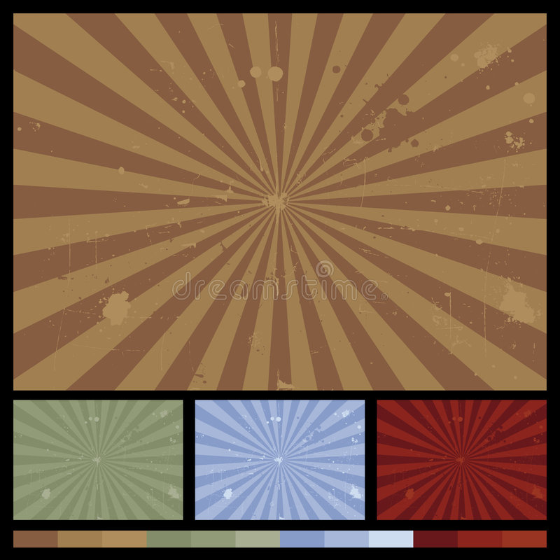 Retro Sunburst Backgrounds vector illustration