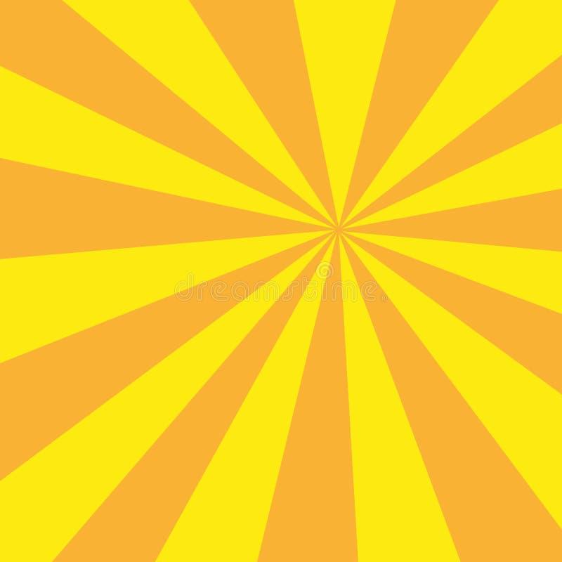 Retro sunburst promień w rocznika stylu ilustracji