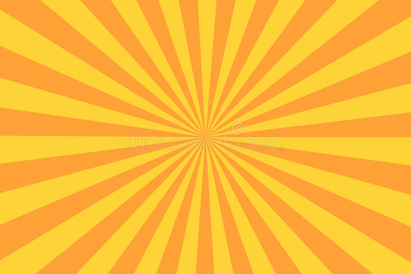 Retro sunburst ray in vintage style. Abstract comic book background stock illustration