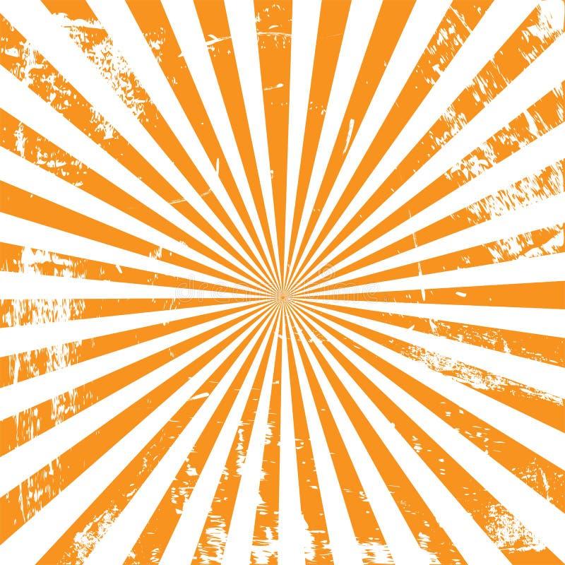 Retro sunburst tło w rocznika stylu ilustracji