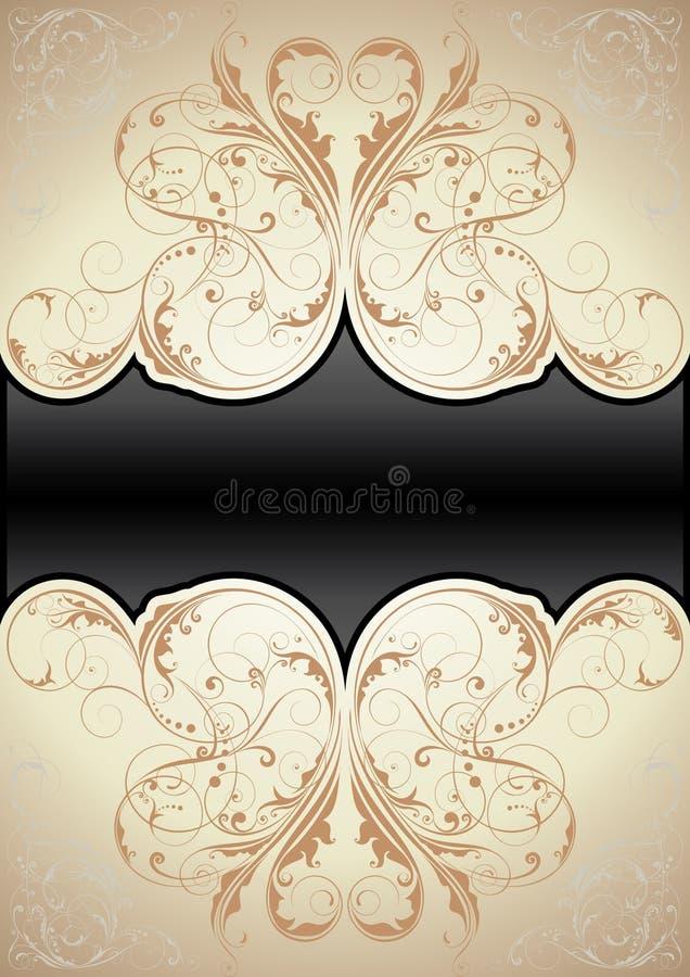 retro swirl för bakgrund royaltyfri illustrationer