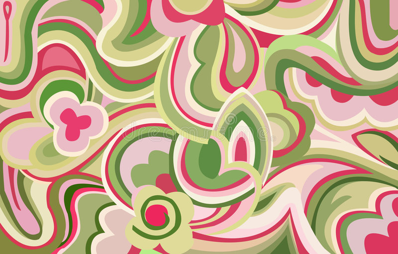 Download Retro swirls and curves stock illustration. Image of imagination - 4532747
