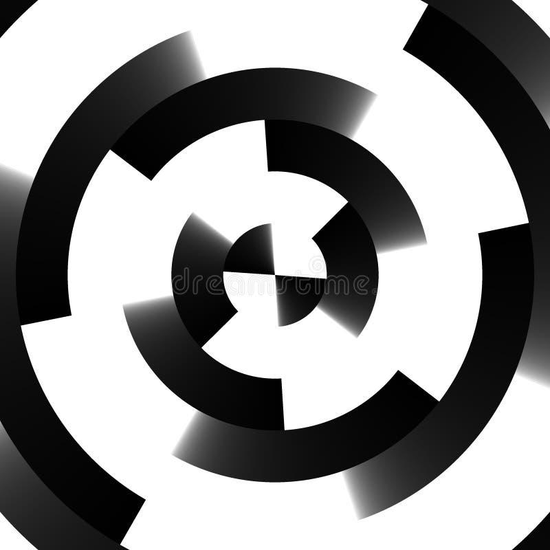 retro swirltechno för bakgrund vektor illustrationer