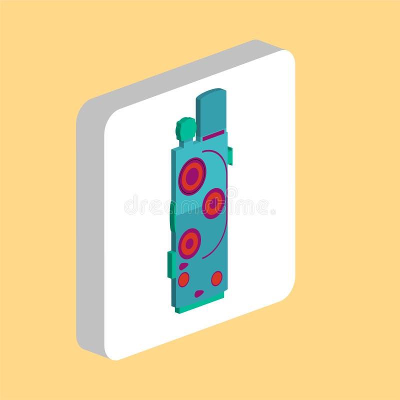 Retro symbol för biokameradator vektor illustrationer