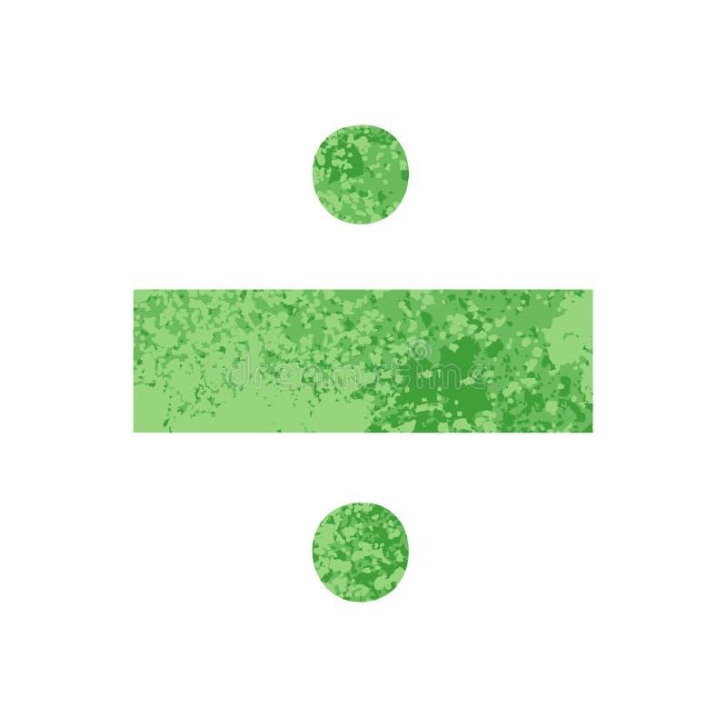 Retro symbol för uppdelning för illustrationstiltecknad film royaltyfri illustrationer