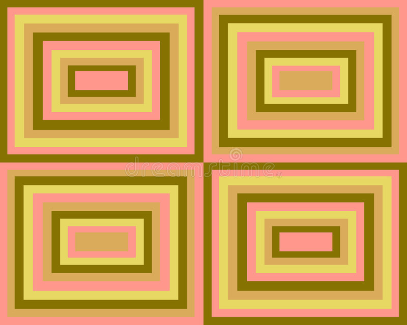 Download Retro Symmetrical Squares Background Stock Illustration - Image: 3924968