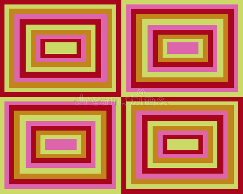 Download Retro Symmetrical Squares Background Stock Illustration - Image: 4390354