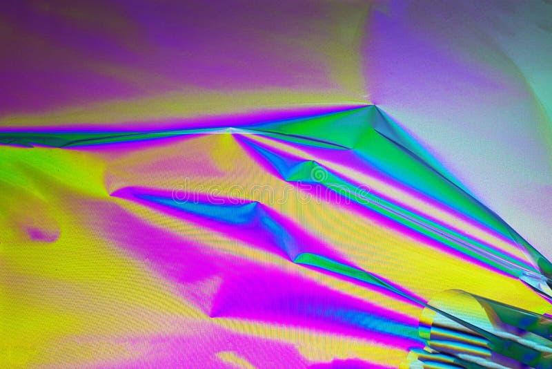 Retro synthgolf, Abstracte achtergrond in neonkleuren, dwarspolarisatie Tendensconcept 2019 kleuren plastic roze, ufo royalty-vrije stock foto's