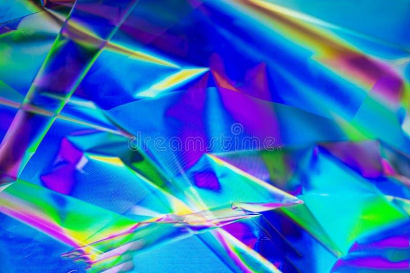 Retro synthgolf, Abstracte achtergrond in neonkleuren, dwarspolarisatie Tendensconcept 2019 kleuren plastic roze, ufo stock fotografie